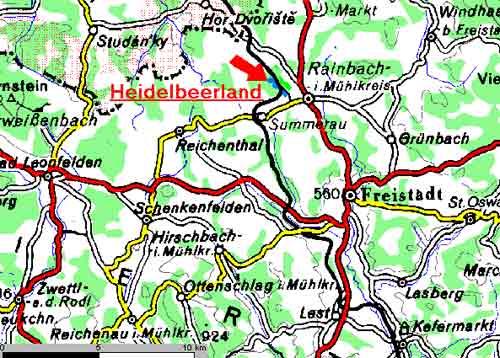 Grafik Lageplan Heidelbeerland Sturm - Heidelbeeren vom feinsten - Pflück mich!